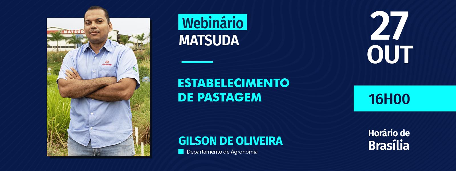 Webinário Estabelecimento de pastagem l Gilson de Oliveira