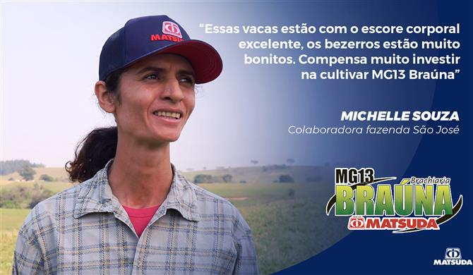 Sítio São José l MG13 Braúna Matsuda se mantém verde na seca